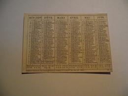 Mini Calendrier,  Recto Verso , 1870, Non Publicitaire - Kalenders