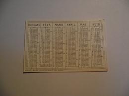 Mini Calendrier,  Recto Verso , 1869, Non Publicitaire - Calendriers