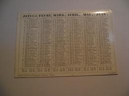 Mini Calendrier,  Recto Verso , 1856, Non Publicitaire - Kalenders