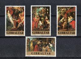GIBILTERRA  :  NATALE  77 -  Quadri Di  Rubens  -  4 Val.   MNH**   Del   2.11.1977 - Gibilterra