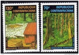 Centrafricaine N ° 634 / 35  XX Ressources Forestières La Paire  Sans Charnière TB - Centrafricaine (République)