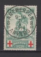 Belgique: 1914. COB 126. Oblitéré. TTB. - 1914-1915 Red Cross