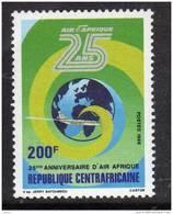"""Centrafricaine N ° 744  XX 25ème Anniversaire De La Compagnie Aérienne """" Air Afrique """" Sans Charnière TB - Centrafricaine (République)"""