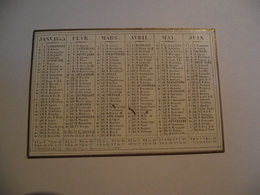 Mini Calendrier,  Recto Verso , 1855, Non Publicitaire - Kalenders