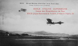 CPA.- Aérodromes > NICE Gd Meeting D'Aviation (10 Au 25 Avril 1910) Champ D'aviation De La Californie - En TBE - Aerodrome