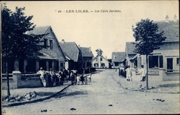 Cp Les Lilas Seine Saint Denis, Les Cites Jardins - Francia
