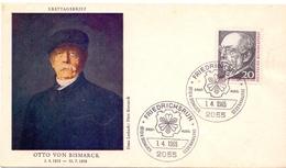 GERMANY FDC FRIEDRICHSRUH 1965 OTTO VON BISMARCK  (FEB201041) - [7] Federal Republic