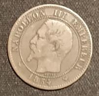 FRANCE - 2 CENTIMES 1854 W - Napoléon III - Tête Nue - B. 2 Centimes