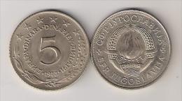 Yugoslavia 5 Dinara 1973. - Joegoslavië
