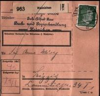 ! 1943 Paketkarte Deutsches Reich,  Hainichen Nach Leipzig, Zusammendrucke Hitler - Covers & Documents