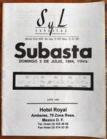 SYL AUCTIONS Shelton Liera Classic Mexico Auction Catalog July 1994 Rare, Essential Literature - Mexico