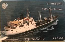 "SAINTE-HELENE  -  Cable  § Wireless  -  "" RMS St Helena ""  -  £15,00 - Sainte-Hélène"