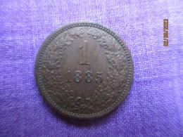 Austria: 1 Kreuzer 1885 - Autriche