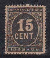 ESPAÑA.  EDIFIL 238 *.  15 CTS NEGRO CIFRA.  CATÁLOGO 125 € - Nuevos