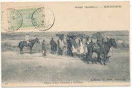 MAURITANIE - Départ D'une Caravane à Porteurs - Mauretanien