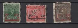Belgique: 1921. COB 184/186. Oblitéré. BB/B - Belgique