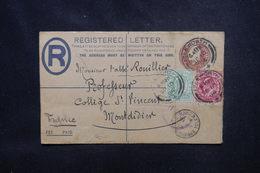 ROYAUME UNI - Entier Postal +compléments En Recommandé De Isleworth En 1906 Pour La France - L 53710 - Postwaardestukken