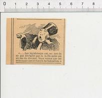 Presse 1892 Petite Gravure Humour Divorce Justice Métier Juge Avocat ?? 51B3 - Vieux Papiers