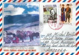 Belle Lettre De Ulaanbaatur (Majestic Mongolia)  Adressée Andorra, Avec Timbre à Date Arrivée 2020 - Mongolie