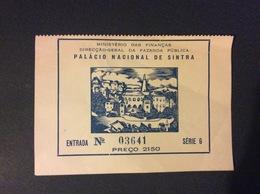 TICKET D'ENTREE Palacio National De Sintra PORTUGAL - Tickets D'entrée