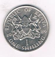 1 SHILLING 1989  KENIA /1298// - Kenia