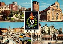Cartolina Udine Vedute Stemma 1972 - Udine