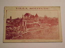 Carte De Visite, Villa Solitude, LOURDES, François HEINS, Vers 1900 - Cartes De Visite
