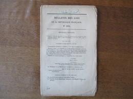 BULLETIN DES LOIS N°209 LOI QUI APPROUVE LE TRAITE DE COMMERCE SIGNE LE 1er AVRIL 1874  ENTRE LA FRANCE ET LA RUSSIE - Décrets & Lois