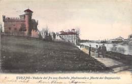 ITALIA Italie (Piemonte TORINO Turin ) CASTELLO Del VALENTINO Veduta Con Castello Medioevale E Monte Dei Cappuccini CPA - Castello Del Valentino