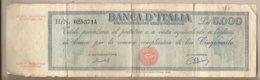 """Italia - Banconota Circolata """"Titolo Provvisorio"""" Da  £ 5000 P-86b - 1949 #17 - 5000 Lire"""