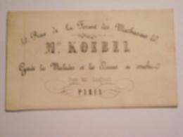 Carte De Visite, Mme KOEBEL, Vers 1900, Paris - Cartes De Visite