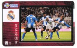 Télécarte China Tietong - Football - Real De Madrid - Sport