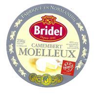 ETIQUETTE De FROMAGE. CAMEMBERT MOELLEUX Fabriqué En NORMANDIE..BRIDEL..Elu Produit De L'Année 2005 - Kaas