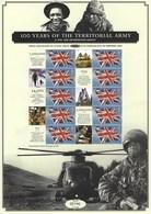 Gran Bretagna, 2008 CS1 100° Ann. Esercito Territoriale, Smiler, Con Custodia, Perfetto - Personalisierte Briefmarken