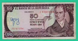 50 Pesos Oro - Colombie - N° 73787094 - 12/10/1984 - TTB + - - Colombia