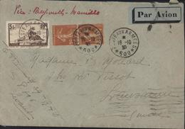 YT France 260 + 235 X2 CAD Poste Aux Armées SP 600 = Beyrouth 16 10 30 Par Avion Barré Via Beyrouth Marseille Pr Suisse - Covers & Documents