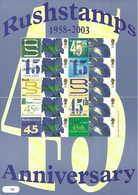 Gran Bretagna, 2003 45° Ann. Di Rushstamps, Smiler, Perfetto - Personalisierte Briefmarken