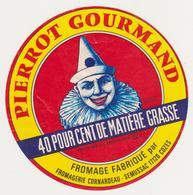 ETIQUETTE DE FROMAGE PIERROT GOURMAND CORNARDEAU SEMUSSAC 17 - Kaas