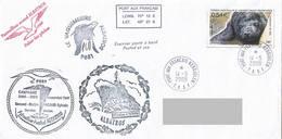 TAAF - Patrouilleur Albatros - Ile Kerguelen. Base Port Aux Français. Mission N°3/2008. - Brieven En Documenten