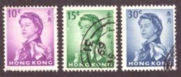 Hong Kong  1962 Queen Elizabeth II - Watermark Upright Cote €4.75 - Oblitérés