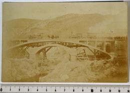 CARTE-PHOTO 9x14cm Amélie-les-Bains, Pyr.-Orientales (66) Essais Nouveau Pont Du Casino, Rouleaux Compresseurs - Autres Communes