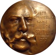 ESPAÑA. MEDALLA F.N.M.T. MARCELINO SANZ DE SAUTUOLA. CUEVAS ALTAMIRA. 1.979. BRONCE. ESPAGNE. SPAIN MEDAL - Profesionales/De Sociedad