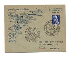 BELLE LETTRE DU SALON PHILATELIQUE D'AUTOMNE PARIS 1949 - 1921-1960: Modern Period