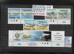 TONGA ** 1989 CON APPENDICE, 50° ANNIVERSARIO Dell'AVIAZIONE, AEREI - Avions