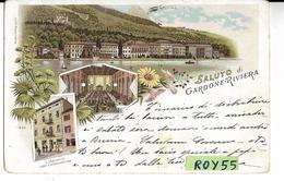 Lombardia-brescia-gardone Riviera Vedute Vedutine Saluti Di Gardone Riviera Grus Aus  Fine 800 (f.picc./v.retro) - Sesto San Giovanni