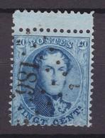 N° 15 A    Avec Interpanneau 186 HUY - 1863-1864 Médaillons (13/16)