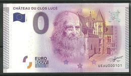 Billet Touristique 0 Euro 2015-1  Léonard De VINCI Chateau Clos Lucé - EURO