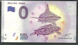Billet Touristique 0 Euro 2019-2 SEA LIFE PARIS Tortue, Requin - EURO