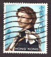 Hong Kong  1962 YT N°204  Queen Elizabeth II - Watermarked Upright Cote €3.00 - Oblitérés