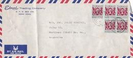 """""""EDMUND, TRADING COMPANY"""" HONG KONG CIRCULATED COMMERCIAL COVER, TO MARTINEZ, ARGENTINA 1983 AIRMAIL -LILHU - Hong Kong (...-1997)"""